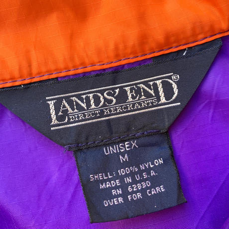 LANDS'END PACKABLE NYLON PULLOVER MADE IN USA size M