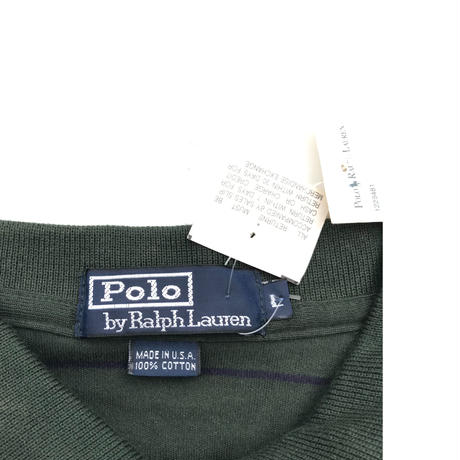 """Polo Ralph Lauren """"Striped Polo Shirts"""" Size-L """"MADE IN USA"""" New"""