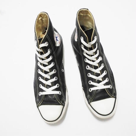 90s Convers ALL STAR   Black leather MADE IN USA US8 26cm