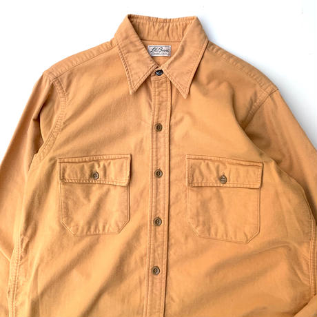 70's L.L.Bean Chamois Cloth Shirt size L程