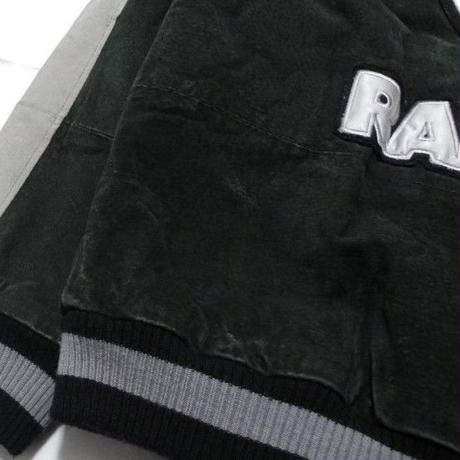 RAIDERS LEATHER STADIUM JACKET M