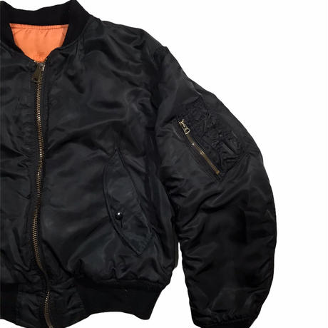 ALPHA INDUSTRIES Black MA-1 Jkt Size M 90s~