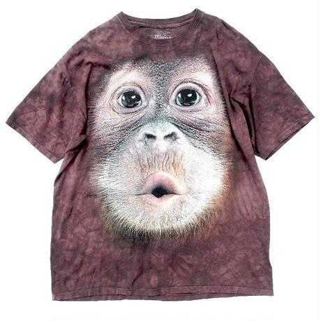 THE MOUNTAIN   MONKEY KISS TIEDYE T-shirt  size-XXL