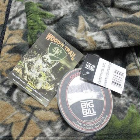 NEW BIG BILL Real tree Fleece Jacket XXL