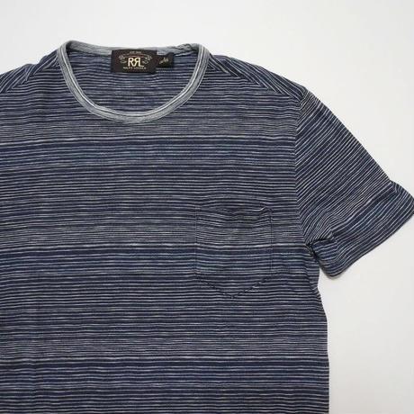 RRL striped Pocket T-shirt S  Indigo