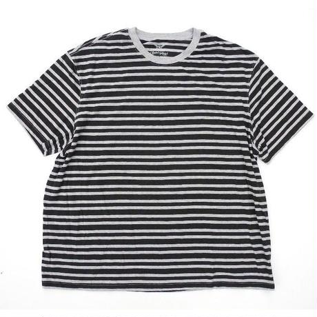 Black × Gray   Border T-shirt SIZE-XXL