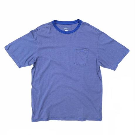 """Everyday Living Basics""  Striped Pocket Tee mix🍃  Blue Size-XXL Black Size-L"
