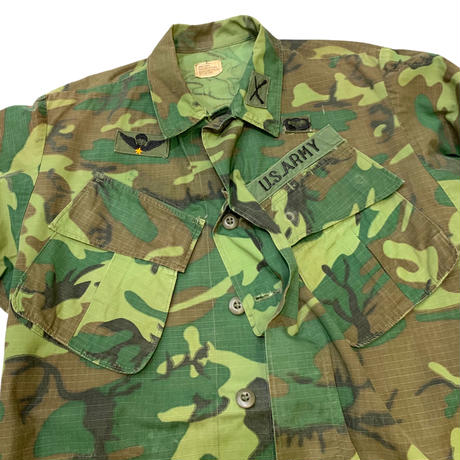 60's ERDL JUNGLE FATIGUE JACKET 4th size SMALL-LONG
