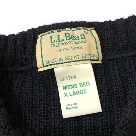 80's〜 L.L.Bean Command Sweater Made in Great Britain🇬🇧 size XL