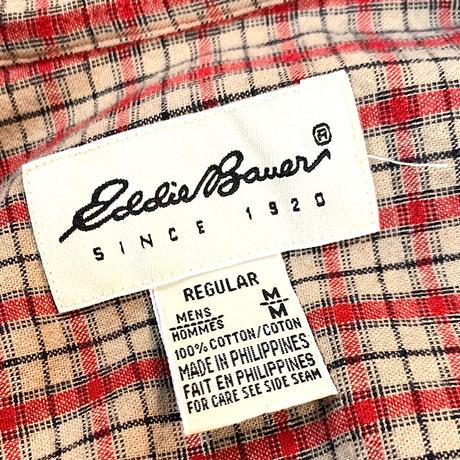 90's〜 EDDIE BAUER COTTON L/S SHIRT size L程