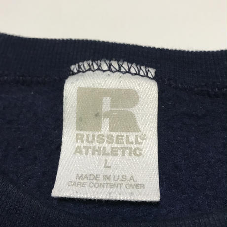 RUSSELL ATHLETIC Sweater Size-L MADE IN USA NAVY
