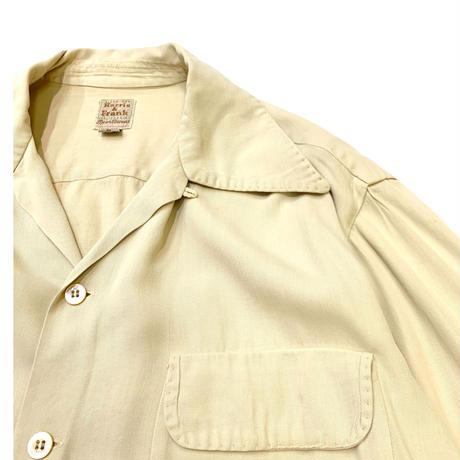 〜50's OPEN COLLAR RAYON SHIRT size M