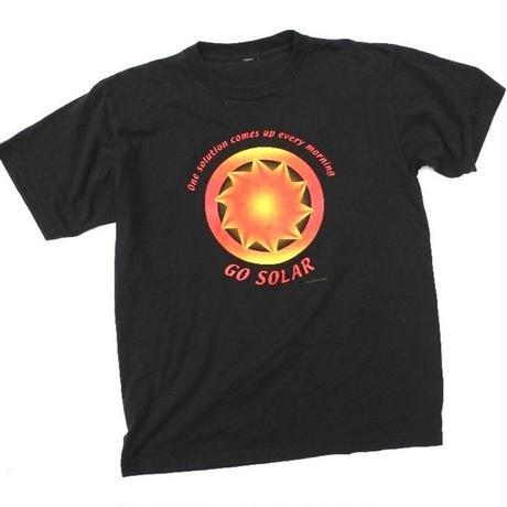 90s GO SOLAR  T-shirt  SIZE-XL