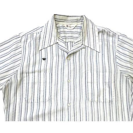 70's OPEN COLLAR SHIRT size M程