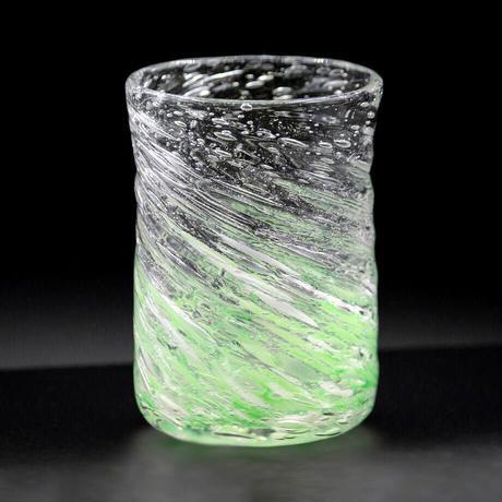 気泡の海 モールグラス(緑砡)