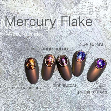 11月1日発売☆KiraNail Mercury Flake(Aurora Flake) オレンジオーロラNo.3(チップ付き)
