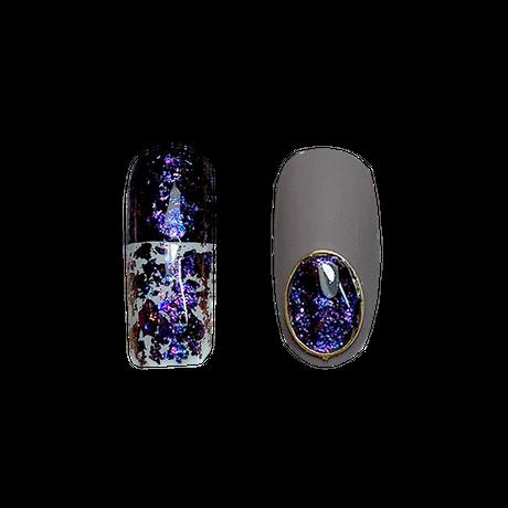 11月1日発売☆KiraNail Venus Flake(Chameleon Flake) パープルシャインNo.3(チップ付き)