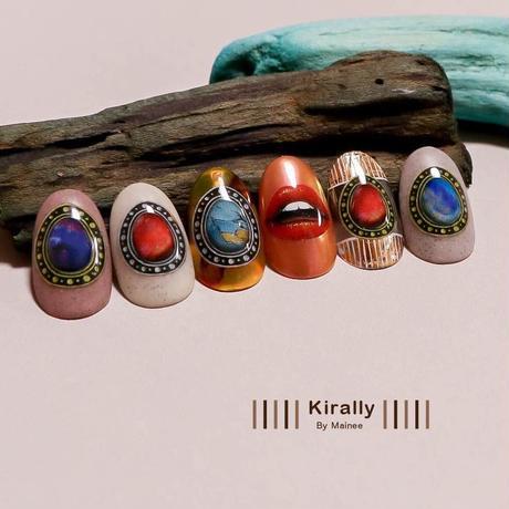 KiraNail Kirally NailSticker Maineeプロデュース brooch-drop