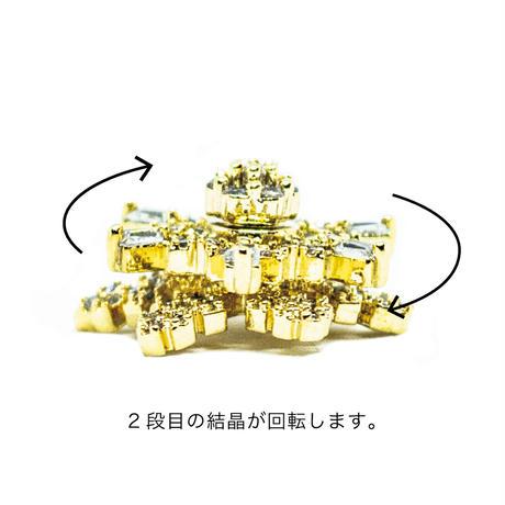 12月25日発売☆KiraNail 雪の結晶 スノウスピンキー ゴールド/シルバー