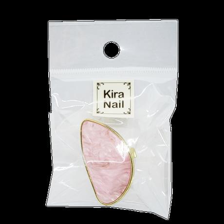 KiraNail リングパレットシェルライクハーフムーン ホワイト/オーロラ/ピンク