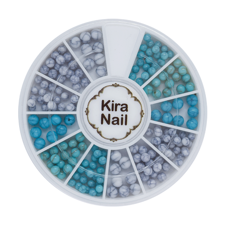 8月5日発売☆KiraNail ターコイズ ラウンドセット ブルー&グレー