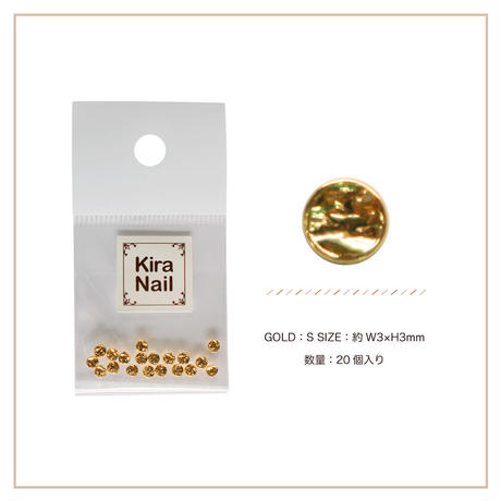 8月5日発売☆KiraNail キャンティー ゴールド S【3mmX3mm】