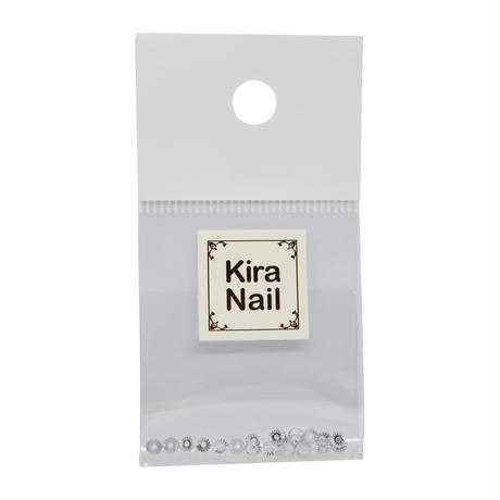 KiraNail GIZAMARUシルバー3mm