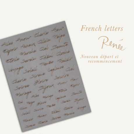 8月20日発売☆KiraNail  Reneeプロデュース French letters 【ゴールド】
