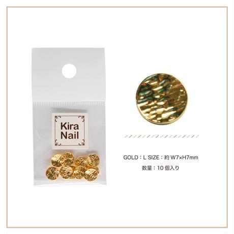 8月5日発売☆KiraNail キャンティー ゴールド L【7mmX7mm】