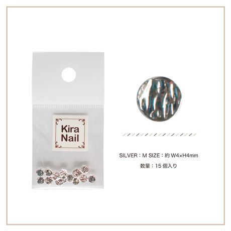 8月5日発売☆KiraNail キャンティー シルバー M【4mmX4mm】