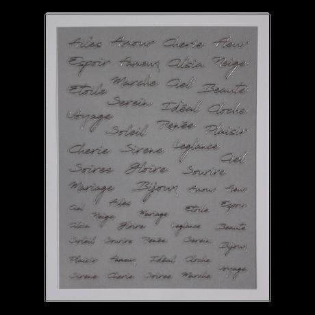 8月20日発売☆KiraNail  Reneeプロデュース French letters 【シルバー】