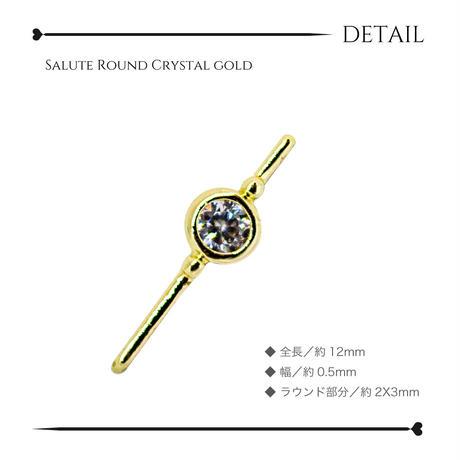 2月1日発売☆KiraNail サリュー ラウンドクリスタル ゴールド