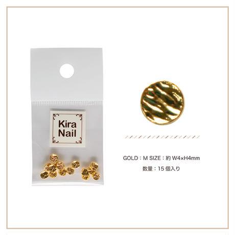 8月5日発売☆KiraNail キャンティー ゴールド M【4mmX4mm】