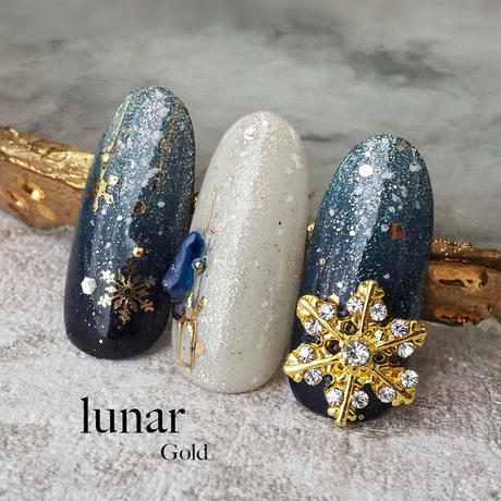 KiraNail 雪の結晶 ルノア ゴールド/シルバー