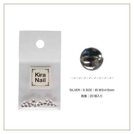 8月5日発売☆KiraNail キャンティー シルバー S【3mmX3mm】
