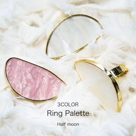 3月15日発売☆KiraNail リングパレットシェルライクハーフムーン ホワイト/オーロラ/ピンク