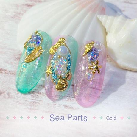5月15日発売☆KiraNail 海パーツセット ゴールド