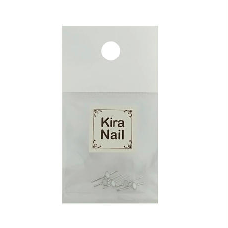 KiraNail サリュー オーバルホワイト ゴールド/シルバー