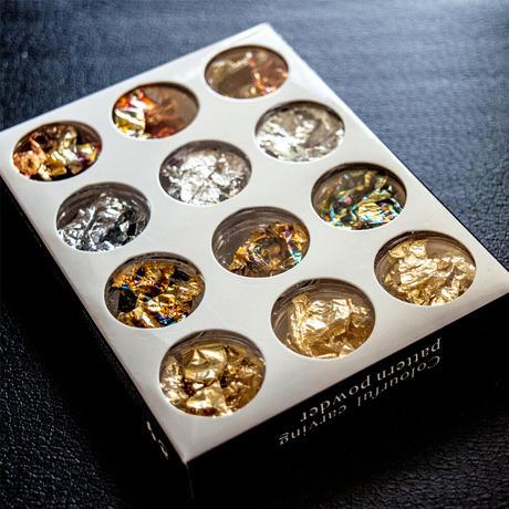3月15日発売☆KiraNail 箔 ゴールドシルバーセット(12個各ケース入)
