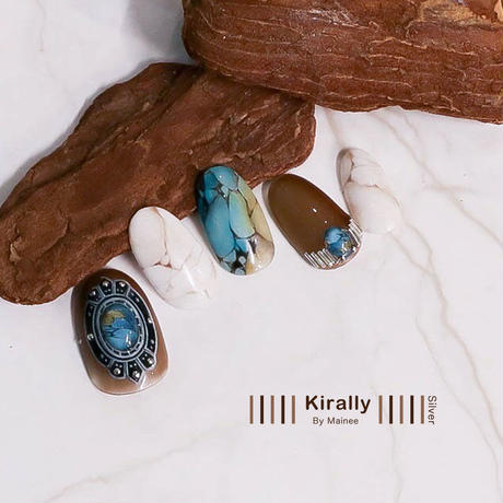 KiraNail Kirally Maineeプロデュース brooch-oval ネイルシール