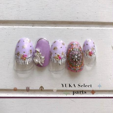 KiraNail Kirally YUKAセレクトパーツ Vintage leaf