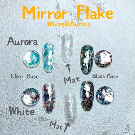 9月1日発売☆KiraNail Hanakoプロデュース Mirror Flake 【ホワイト】