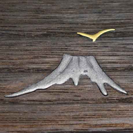 角トレー 山に鳥