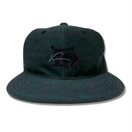 K Logo B.B Cap <Black x D.Green>