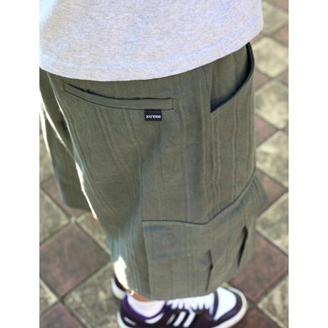 Dobby Canvas Cargo Short Pants <Khaki>