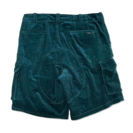 Couduroy Cargo Short Pants <Green>