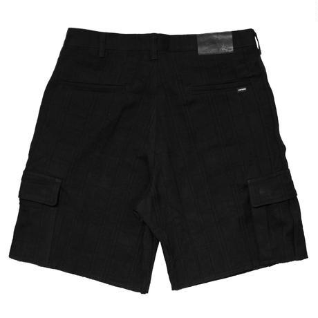 Dobby Canvas Cargo Short Pants <Black>