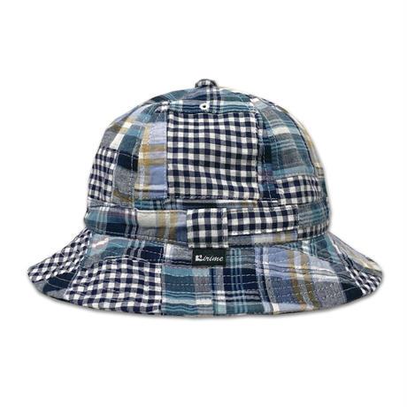 Skate Bell Hat    <Gingham/Tartan Plaid Patchwork>