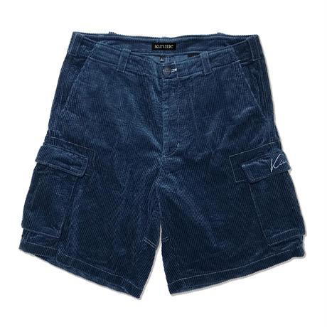 Corduroy Cargo Short Pants <Navy>