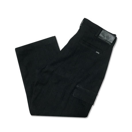 Dobby Canvas Cargo Pants <Black>